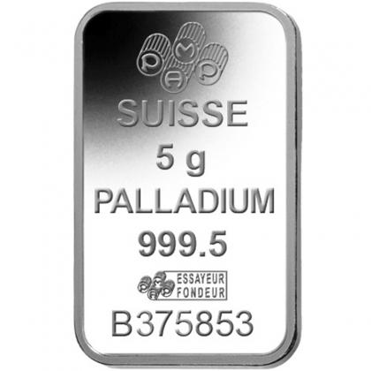 Palladiumbarren 5 Gramm PAMP Suisse