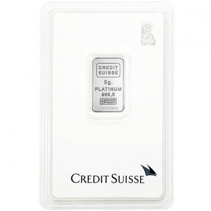 Platinbarren 5 Gramm Credit Suisse