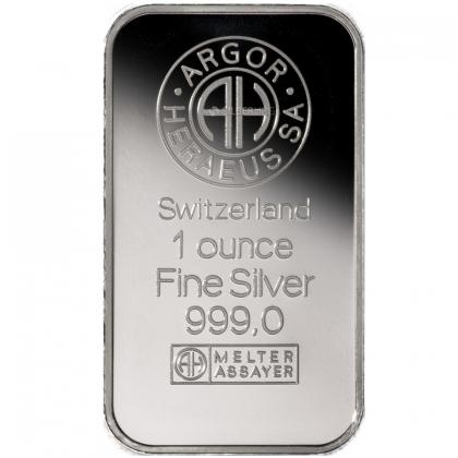 Silberbarren 1 oz Argor-Heraeus