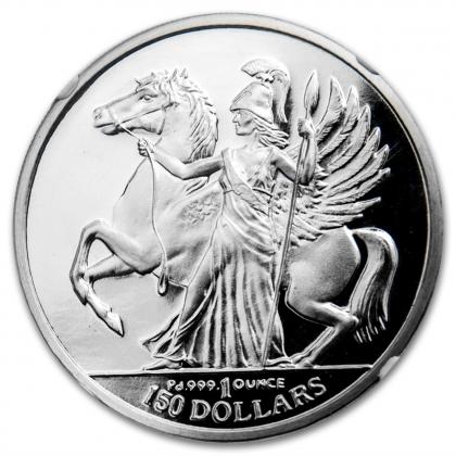 Athena & Pegasus 1 oz Palladium 2016