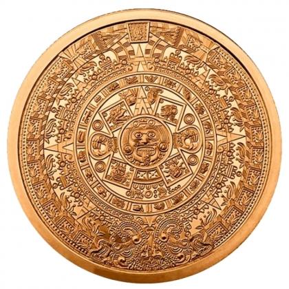Aztekenkalender 2 oz Kupfer