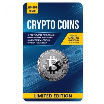 Bitcoin 1 oz Silver Proof Like Coin