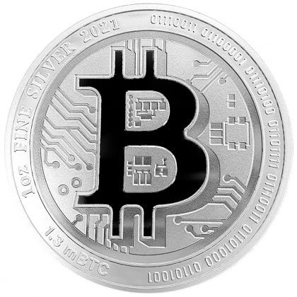 Bitcoin Münze aus Silber 1 oz (Niue)