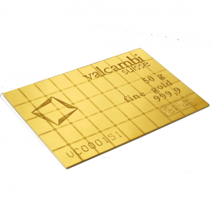 50 x 1 g Gold CombiBar Valcambi