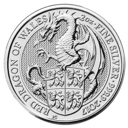 Queen's Beasts Dragon 2 oz Silber 2017