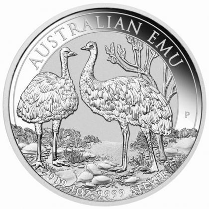 Emu 1 oz Silver 2019