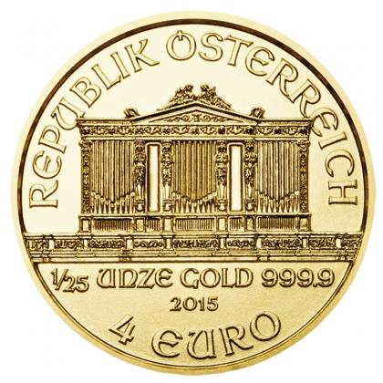 Austrian Philharmonic 1/25 oz Gold 2015