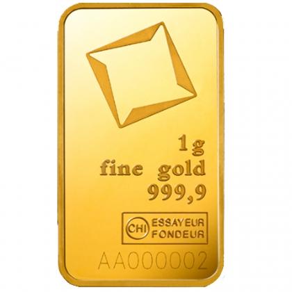 Goldbarren Valcambi 1 Gramm