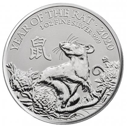 Lunar Maus UK 1 oz Silber 2020