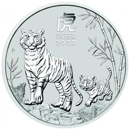 Lunar III - Tiger 2 oz Silber 2022