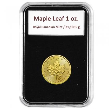 Münzkapsel Slab Maple Leaf 1 oz Gold