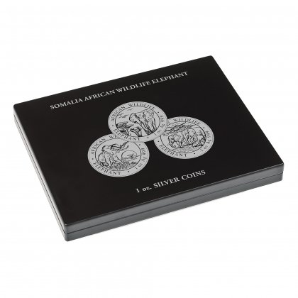 Münzbox Somalia Elefant Silber 1 oz