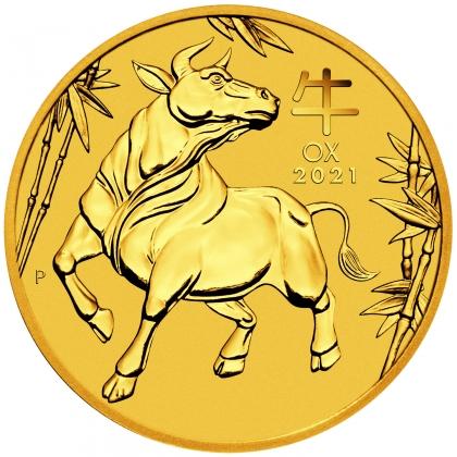 Lunar III - Ochse 1/4 oz Gold 2021