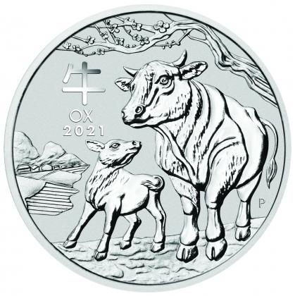 Lunar III - Ochse 2 oz Silber 2021