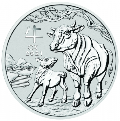 Lunar III -  Ochse 1 oz Silber 2021