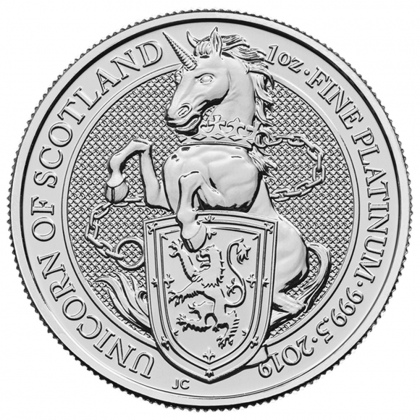 Queen's Beasts Unicorn 1 oz Platin 2019