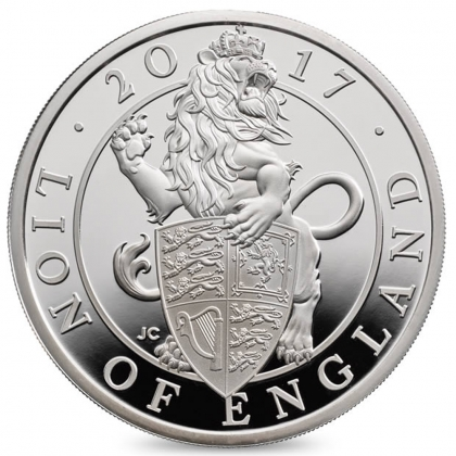 Queen's Beasts Lion 10 oz Silver 2017 Proof