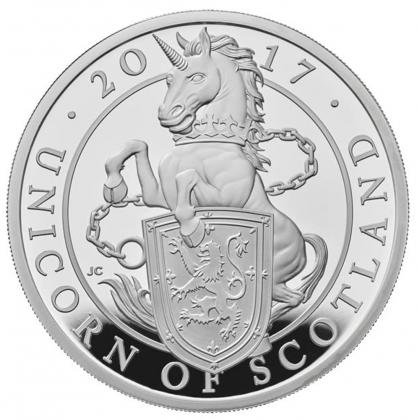 Queen's Beasts Unicorn 10 oz Silver 2017 Proof