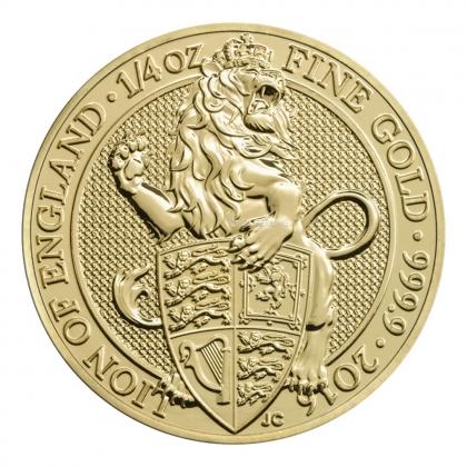 Queen's Beast Lion 1/4 oz Gold 2016