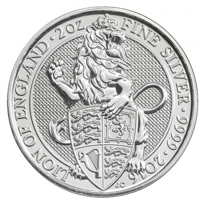 Queen's Beasts Lion 2 oz Silber 2016