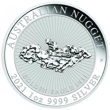 Nugget 1 oz Silber Golden Eagle 2021