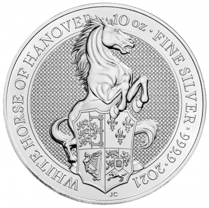 Queen's Beasts White Horse 10 oz Silber 2021