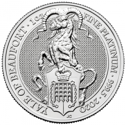 Queen's Beasts Yale 1 oz Platin 2020