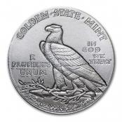 Indian Head 1/10 oz Silber, auf der Rückseite ist ein stehender Adler mit Olivenzweig abgebildet.