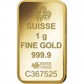 Goldbarren 1 Gramm Fortuna - Logo PAMP Suisse