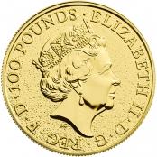 Queen's Beasts Dragon 1 oz Gold 2017 - Wertseite