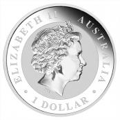 Koala 1 oz Silber 2016 - Auf der Wertseite ist traditionell Elizabeth II abgebildet