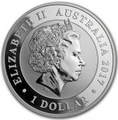 Schwan 1 oz Silber 2017 - Wertseite