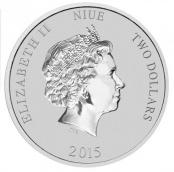 Turtle 1 oz Silber 2015 - Wertseite