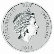 Turtle 1 oz Silber 2014 - Wertseite