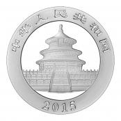 Panda 1 oz Silber 2015 - Rückseite mit Pekinger Himmelstempel