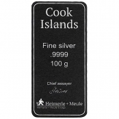 Silberbarren Cook Islands 100 g - Zertifikat
