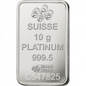 Platinum Bar 10 Gram PAMP Suisse - Rückseite