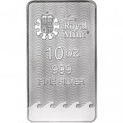 Silberbarren Britannia 10 oz  - Rückseite