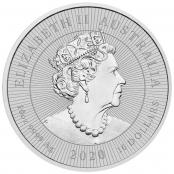 Kookaburra 10 oz Silber 2020 - Rückseite