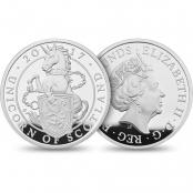 Queen's Beasts Unicorn 10 oz Silber 2017 Proof- Wertseite