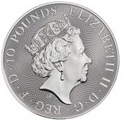 Queen's Beasts Unicorn 10 oz Silber 2019 - Wertseite