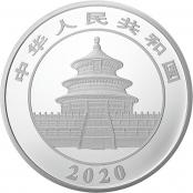 Panda 150 g Silber 2020 Proof- Rückseite