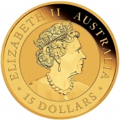 Kookaburra 1/10 oz Gold 2021 - Wertseite