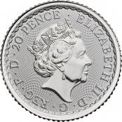 Britannia 1 oz Silber 2020 - Wertseite