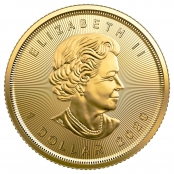 Maple Leaf 1/20 oz Gold 2020 - Wertseite