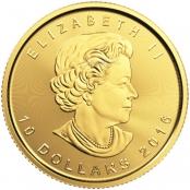 Maple Leaf 1/4 oz Gold . divers - Wertseite