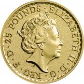Britannia 1/4 oz Gold - Wertseite