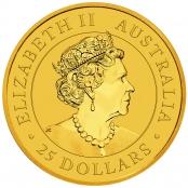 Kangaroo 1/4 oz Gold 2020 - Wertseite