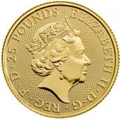 Queen's Beast White Lion 1/4 oz Gold 2020 - Wertseite
