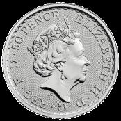 Britannia 1/4 oz Silber 2021 - Wertseite
